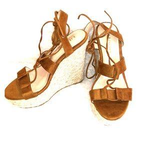Liliana brown wedge sandal heels